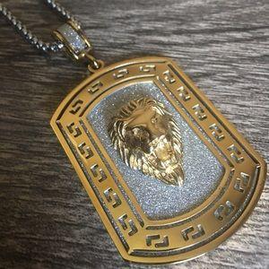 FORZIANI Lion pendant necklace